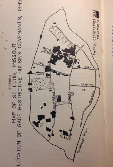 Location of Race Restrictive Housing Covenants, 1945.